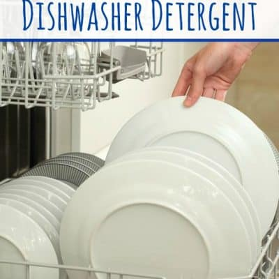 DIY Homemade Dishwasher Detergent