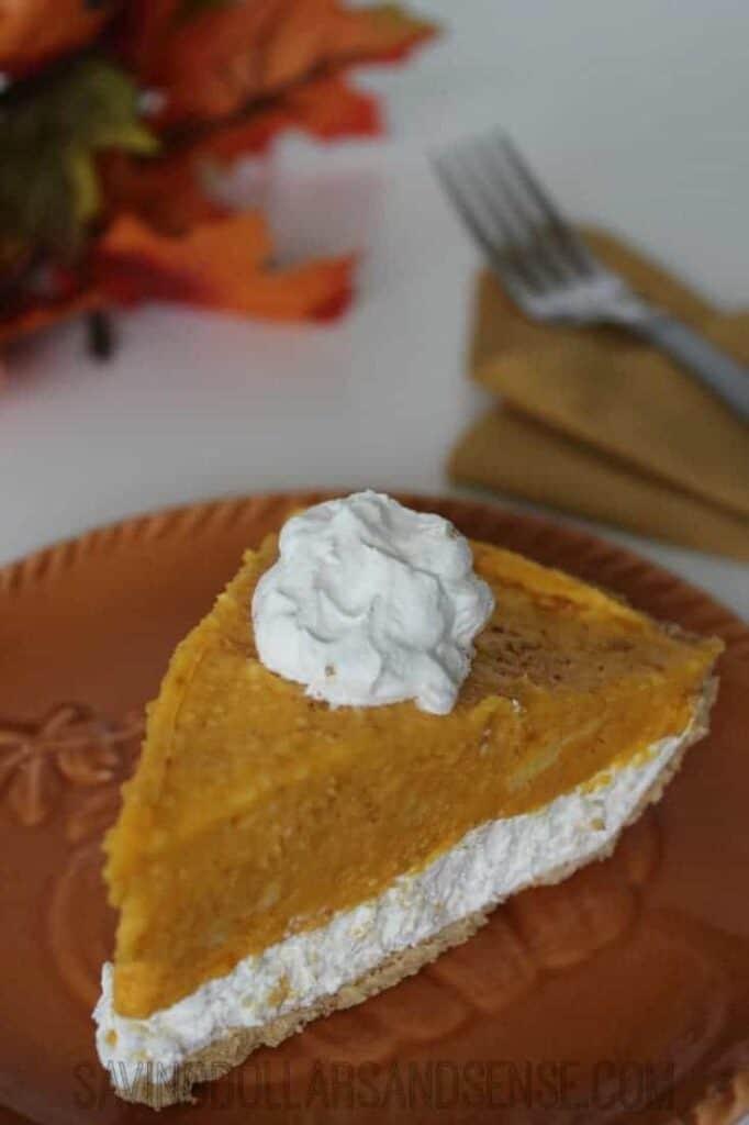 No Bake Pumpkin Pie 1