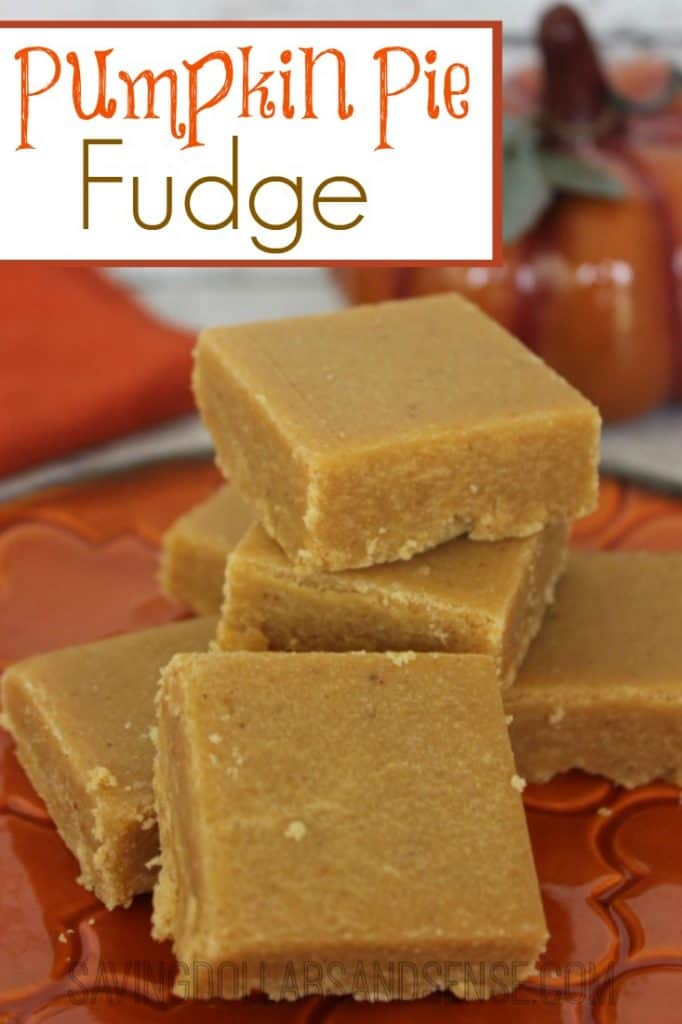 Pumpkin Pie Fudge Recipe - Saving Dollars & Sense