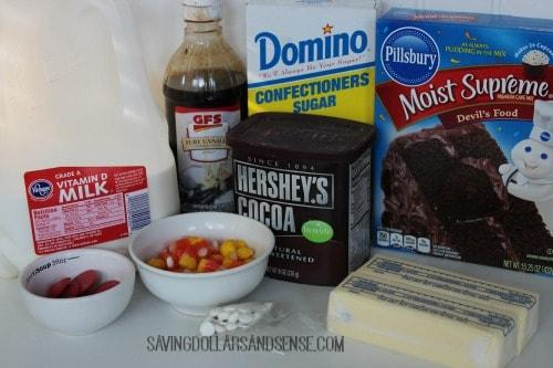 Turkey Cupcakes Ingredients