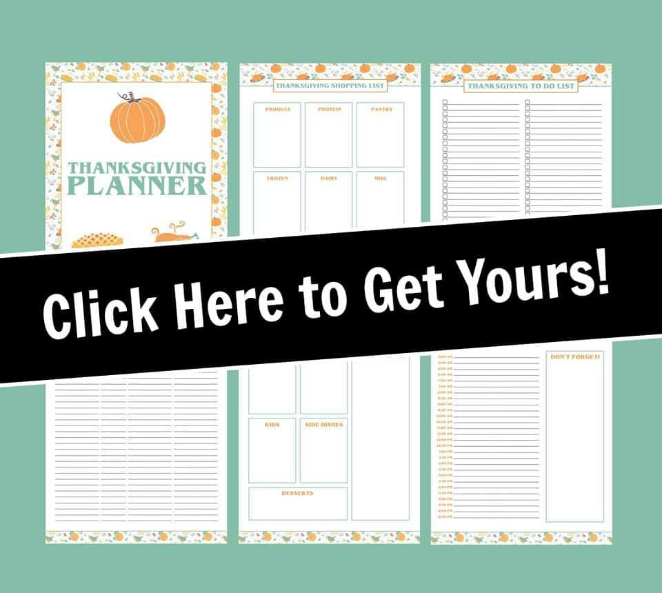 printable thanksgiving dinner planner