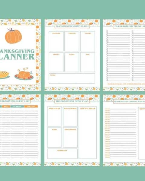printable thanksgiving dinner plan