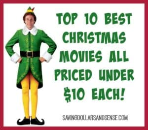 Top Christmas Movies Under $10 Each!