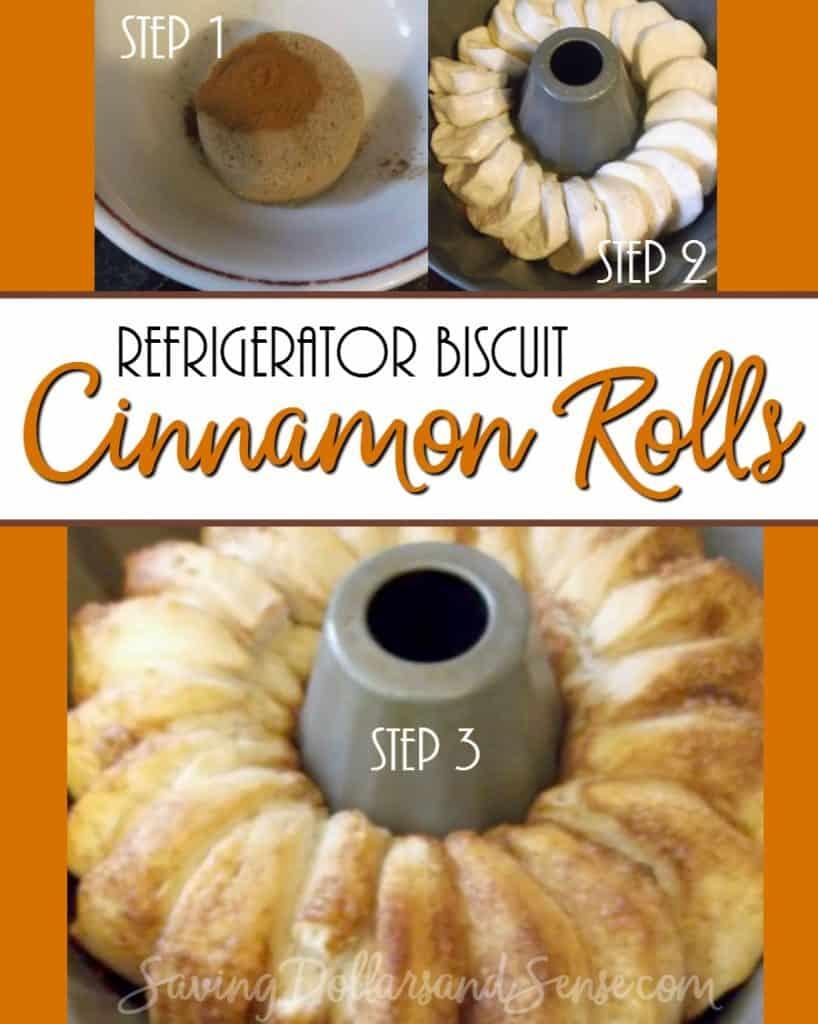 Refrigerator Biscuit Cinnamon Rolls Recipe