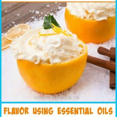 Snow Cream Using Essential Oils