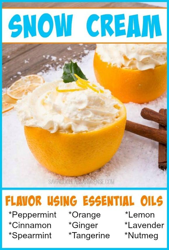 Snow Cream Using Essential Oils