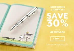 Choosing Thankfulness Challenge + Dayspring Notebooks & Journals 30% Off