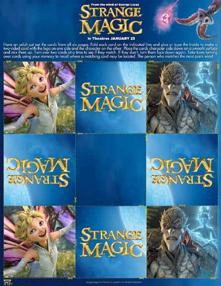 Free Strange Magic Activity Sheets