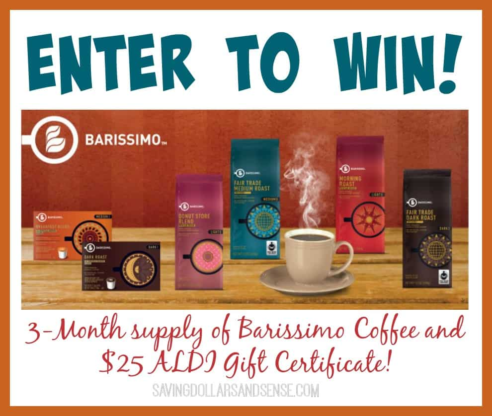 aldi barissimo coffee and 25 gift certificate giveaway aldi 25 gift card barissimo coffee giveaway saving