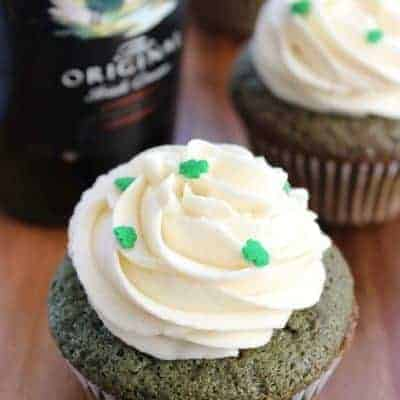 Bailey's green velvet cupcakes