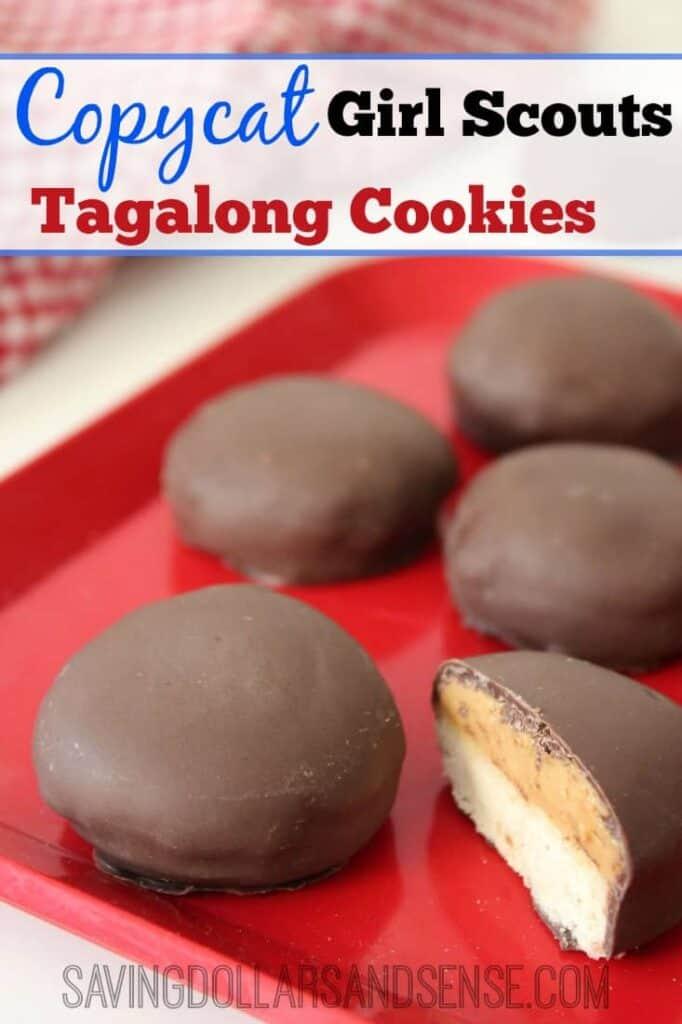 Copycat Tagalong Cookies