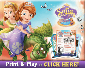 Sophia the First Activity Sheets