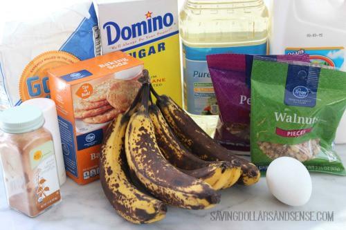 Banana Nut Bread Ingredients