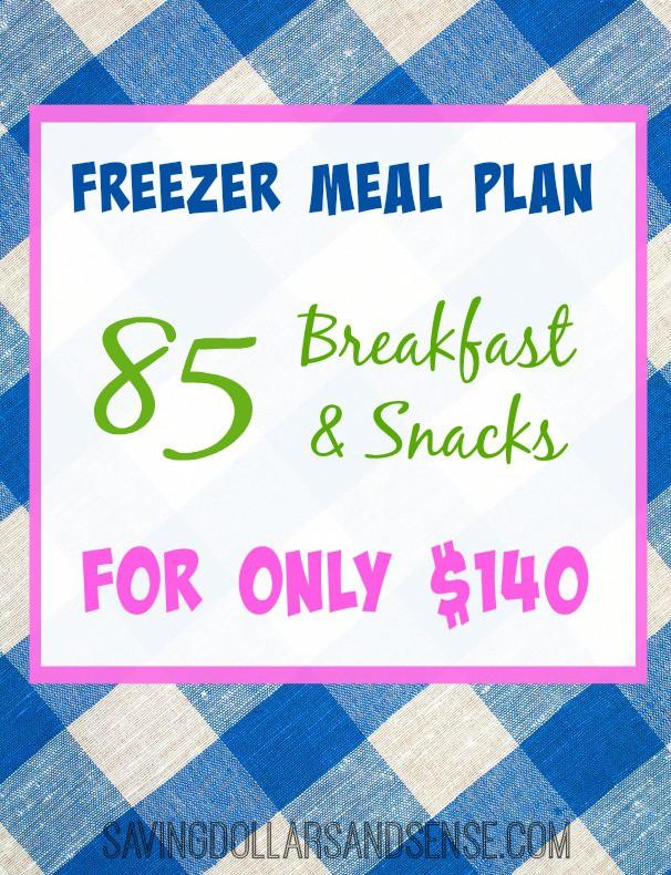 Breakfast Freezer Meal Plan