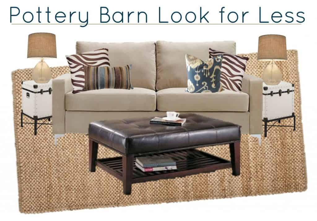 3.24 Pottery Barn Living Room for Less MoodBoard