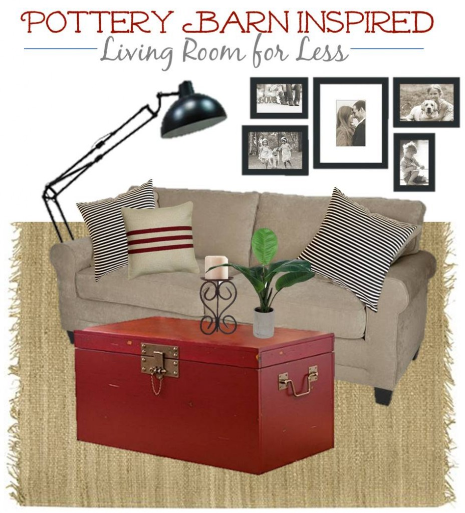 4.13 Pottery Barn Red Living Room MOODBOARD