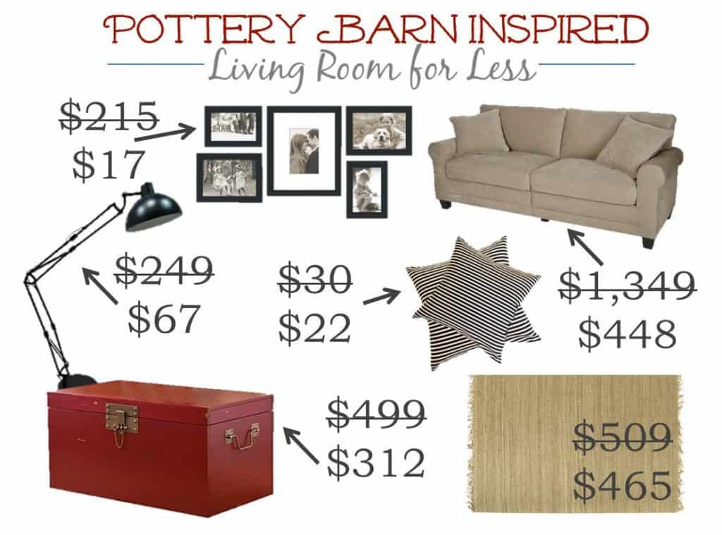 4.13 Pottery Barn Red Living Room PRICES