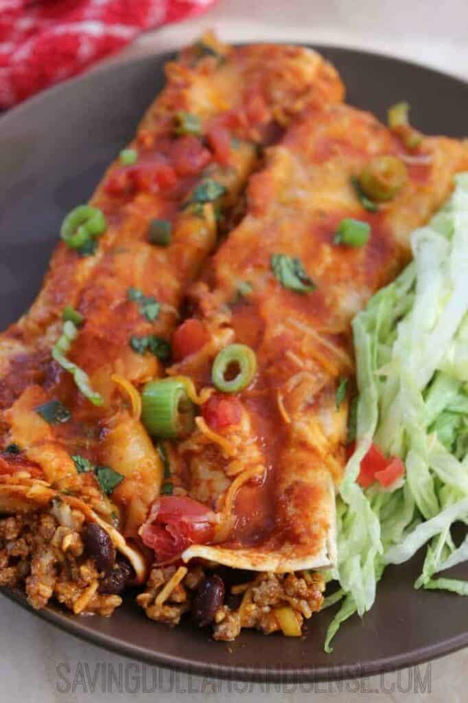 This simple Beef Enchiladas recipe never disappoints when I am looking ...