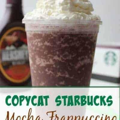 Copycat Starbucks Mocha Frappachino