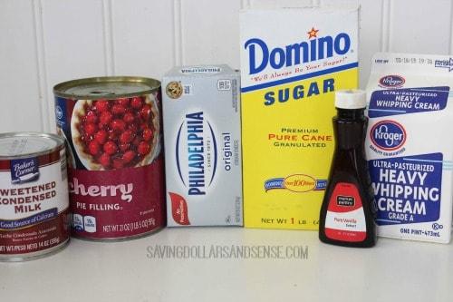 cherry cheesecake ice cream ingredients