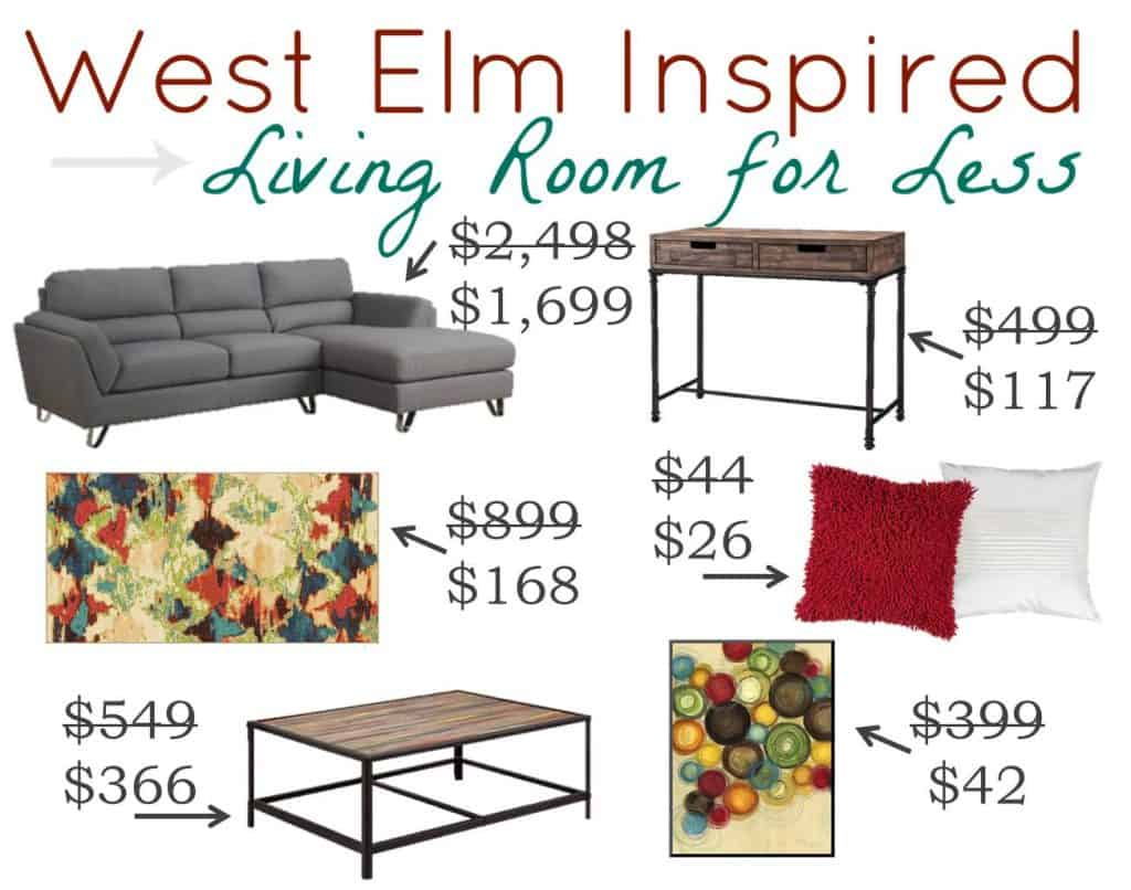 West Elm Inspired Living Room Look for Less