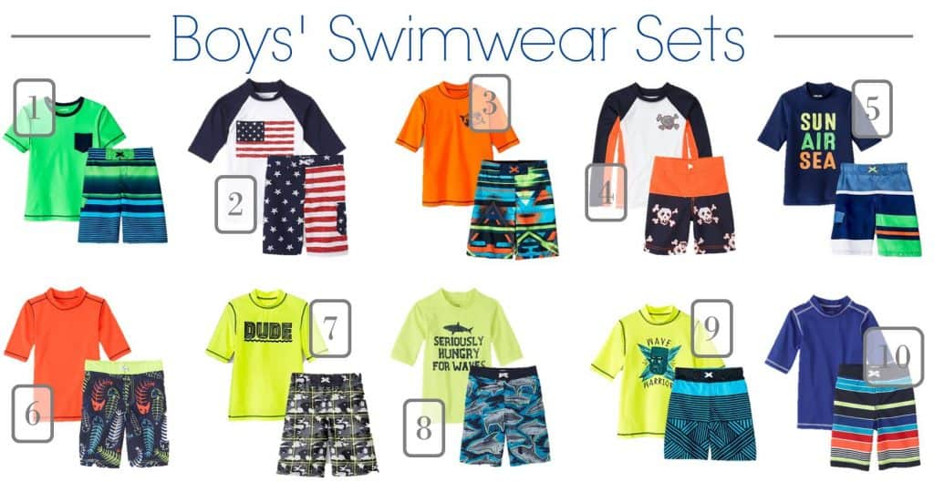 5.18 Children's Swimwear Under 20 Round Up BOYS ONLY