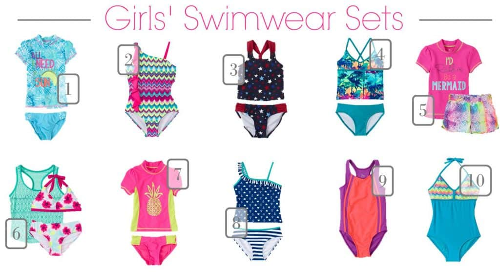 5.18 Children's Swimwear Under 20 Round Up GIRLS ONLY