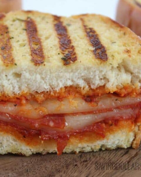 Grilled Pepperoni Pizza Sandwich Recipe