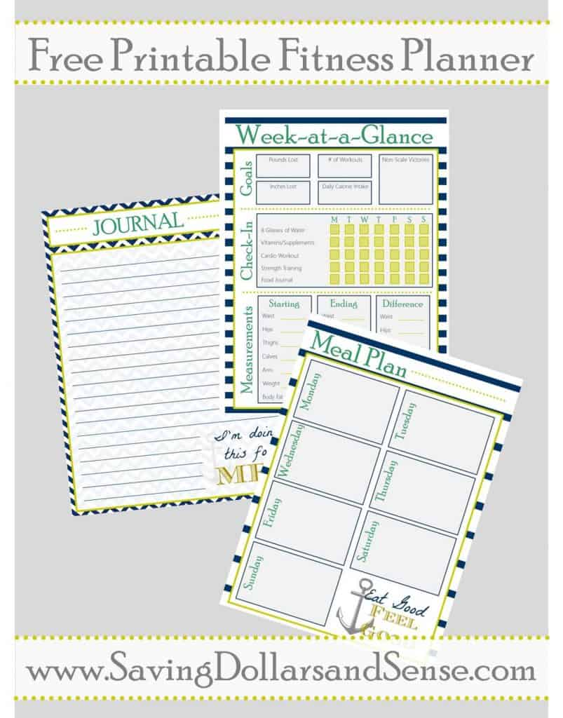image relating to Printable Fitness Journals identified as Printable Exercise Planner - Conserving Funds Experience