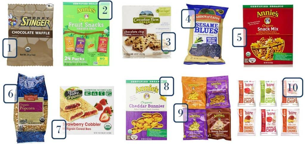 6.10 Amazon Organic Snacks Round Up 1-10