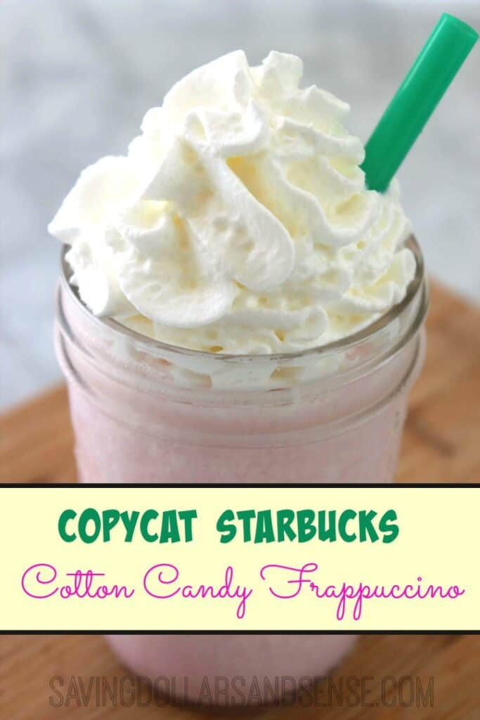 Copycat Starbucks Cotton Candy Frappuccino Recipe