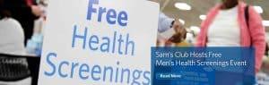 Sam's Club Free Men's Health Screening