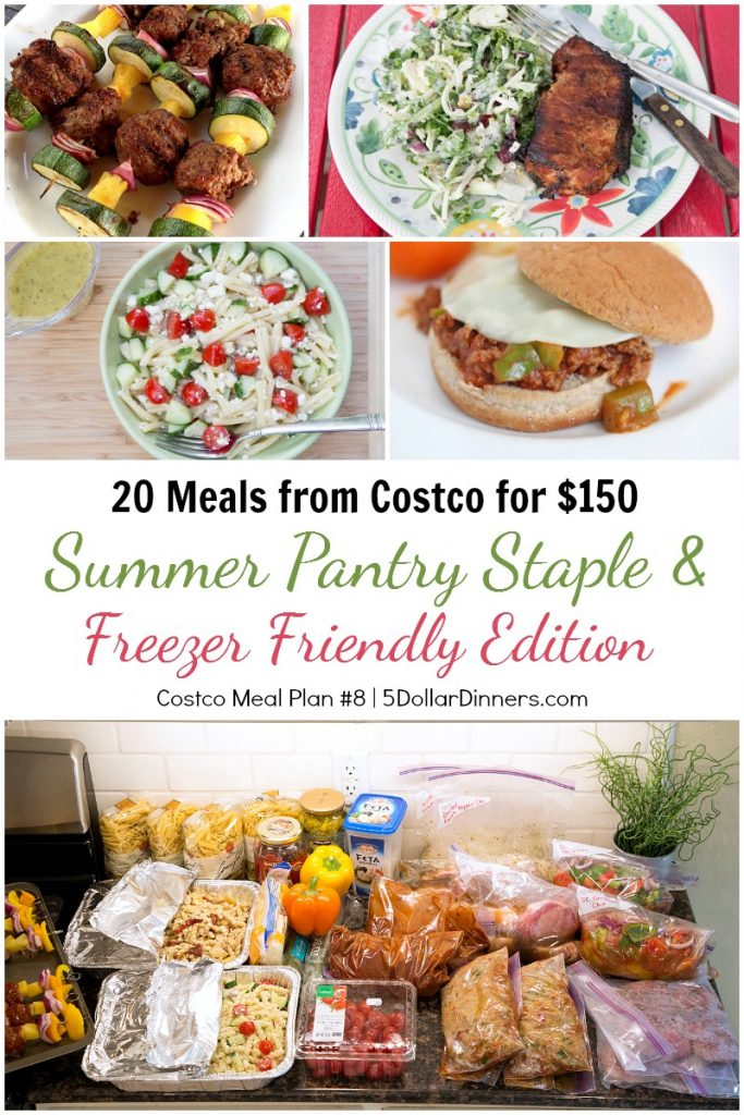 Summer Pantry & Freezer Meal Plan