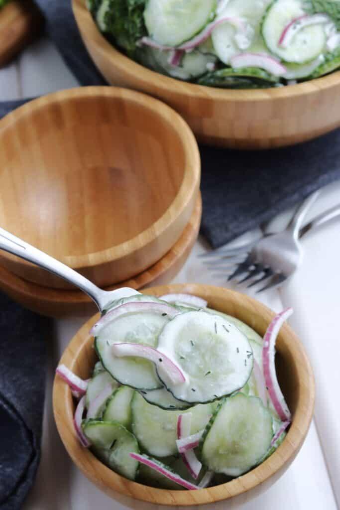 Eat German cucumber salad.