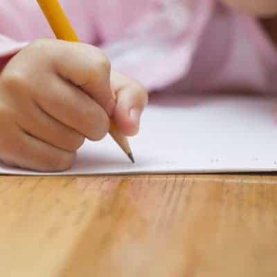 25121041 - little girl doing her homework