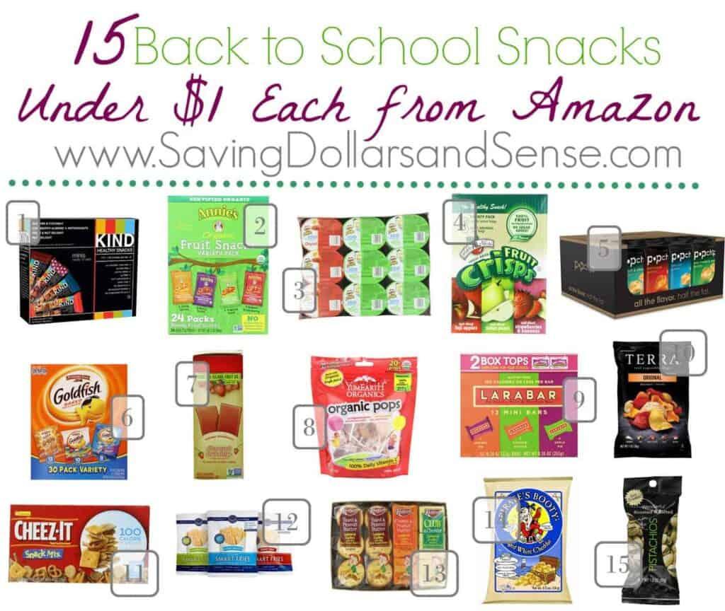Cheap Amazon back to school snacks.