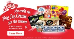 Meijer Ice Cream Summer Sweepstakes