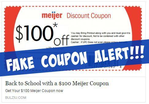 fake coupon