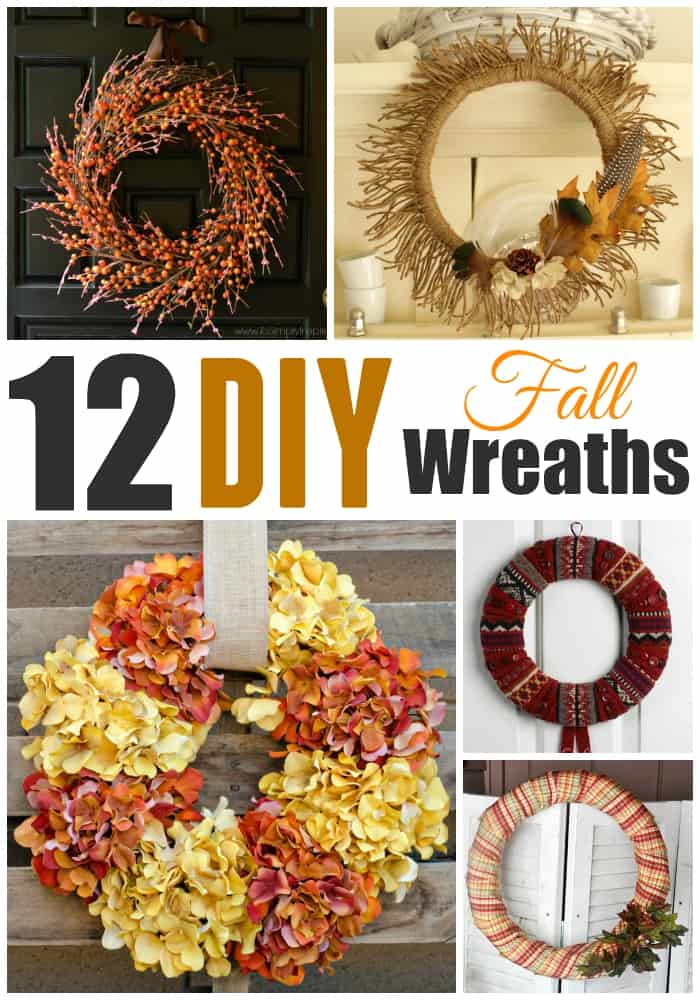 12 DIY Fall Wreaths with Title (1)