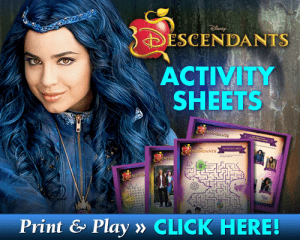 Descendants Activity Sheets