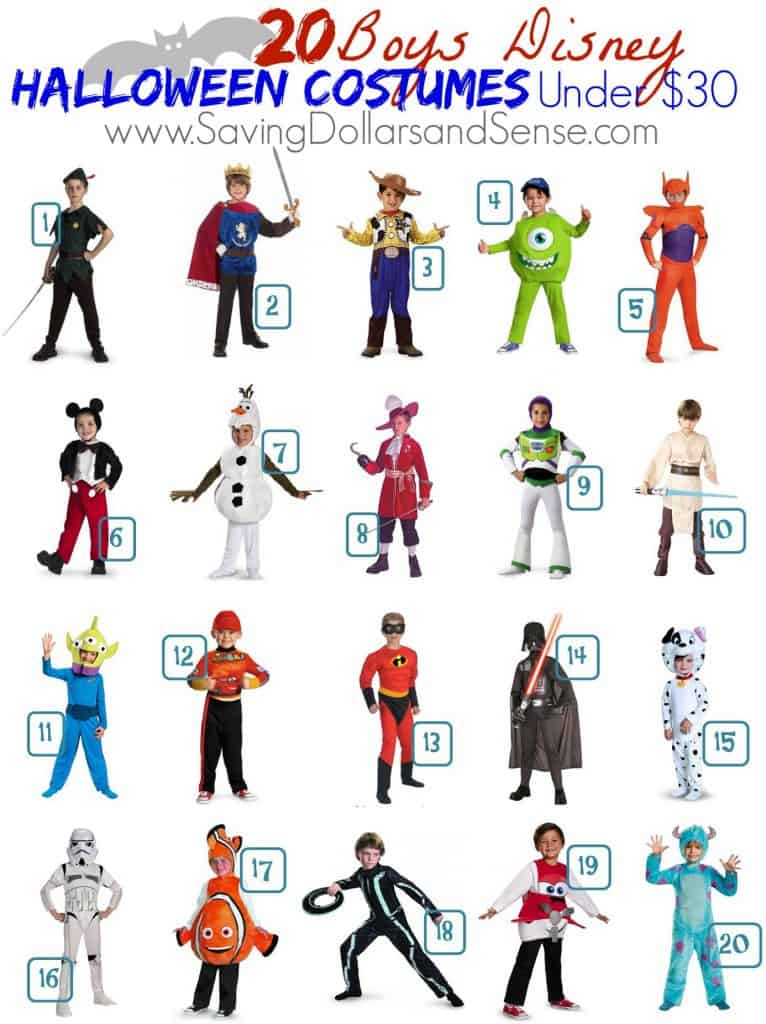 Round Up of Disney BOYS Costumes