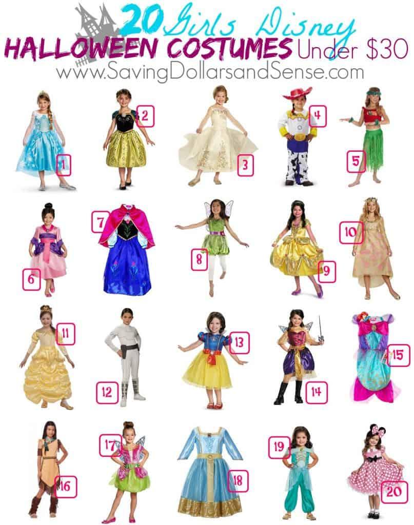 Round Up of Disney Girls Costumes