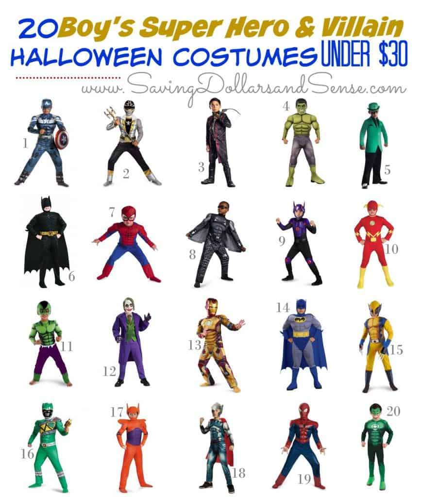 9.18 Amazon Round Up - Super Hero Boy Costumes Under $30 SAVINGDOLLARS