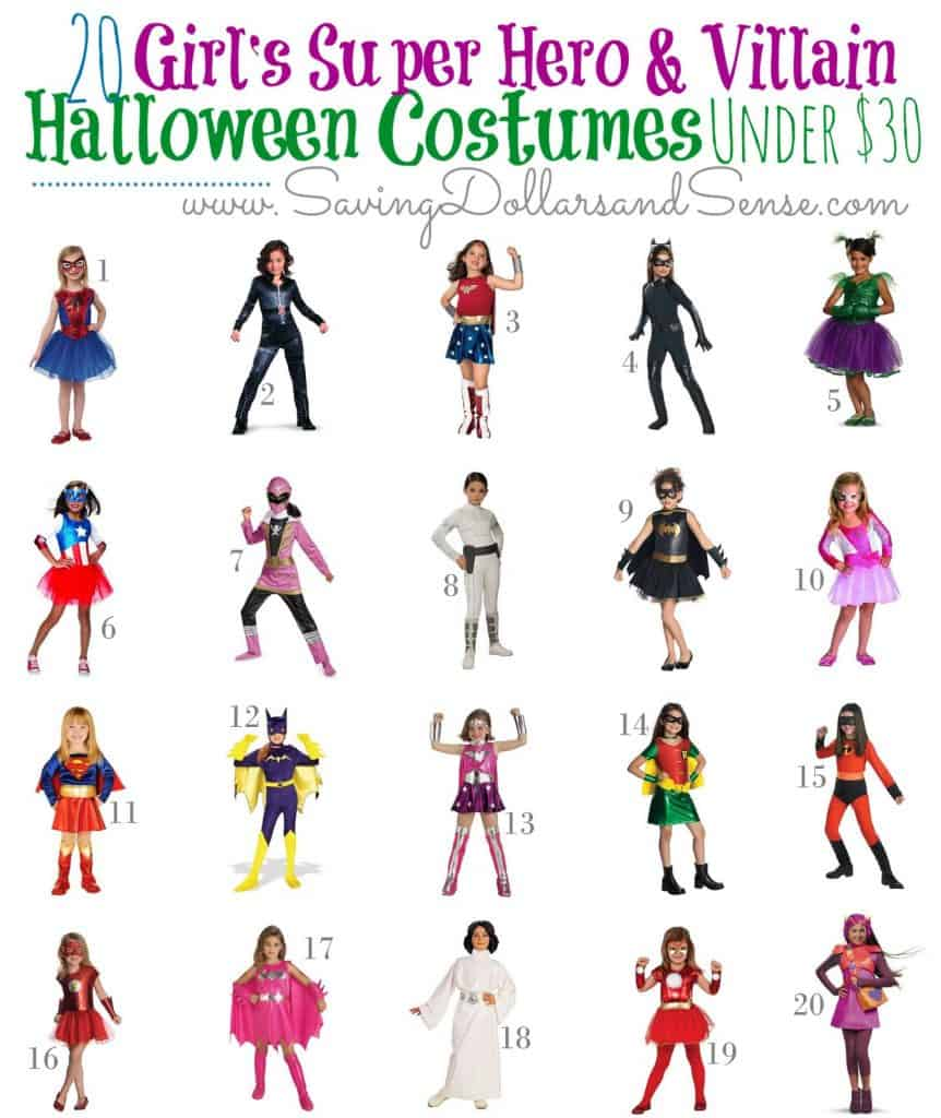 Super Hero GIRL Costumes Under $30