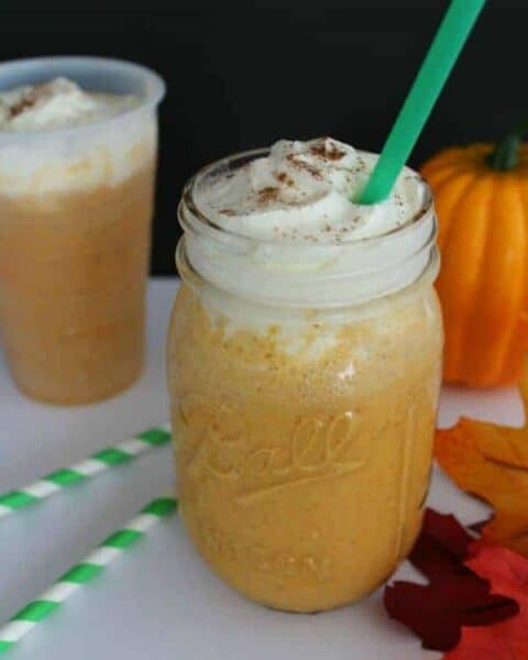 Homemade Pumpkin Spice Frappuccino