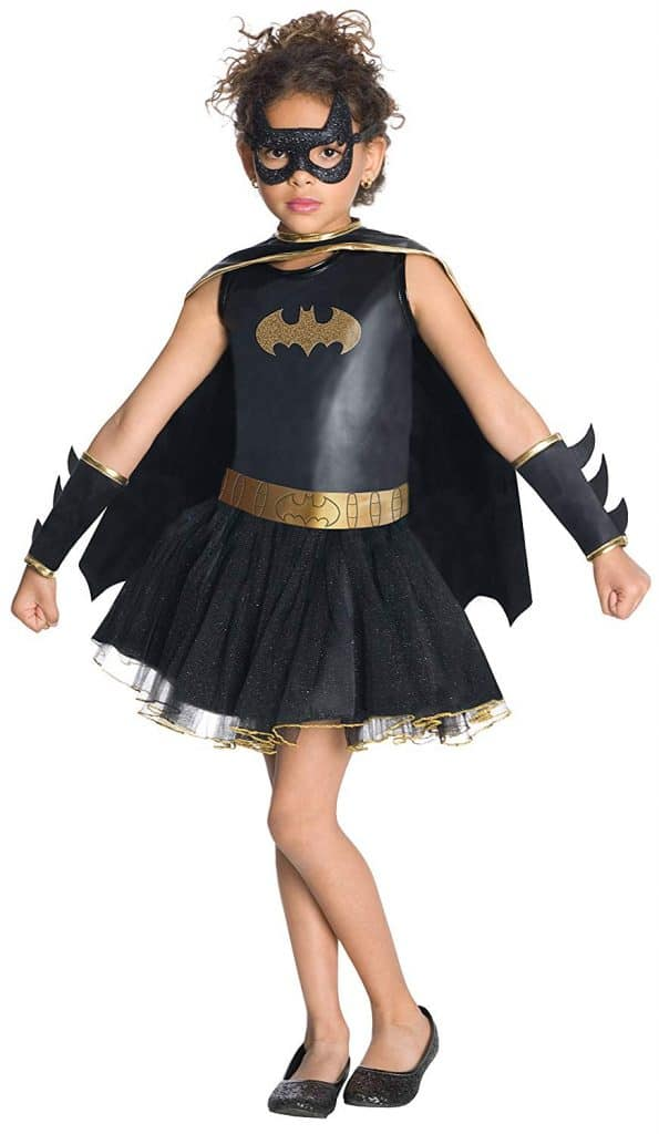 Girl\'s Batman tutu Halloween dress costume.