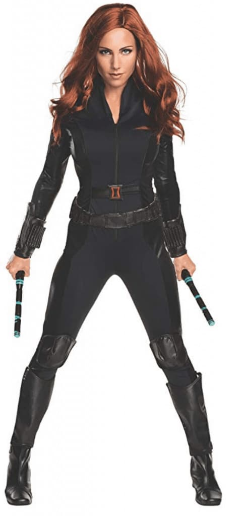 Black Widow Halloween costume.