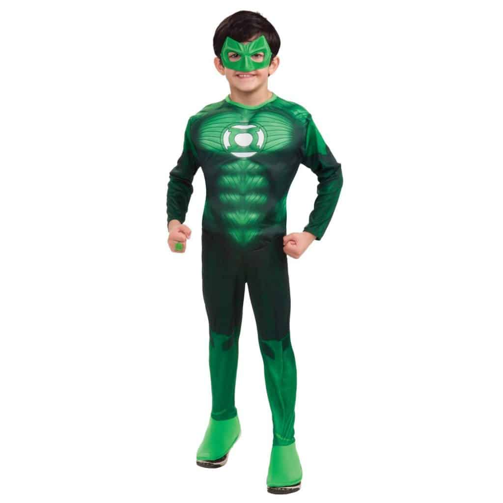 Green Lantern child\'s Halloween costume.