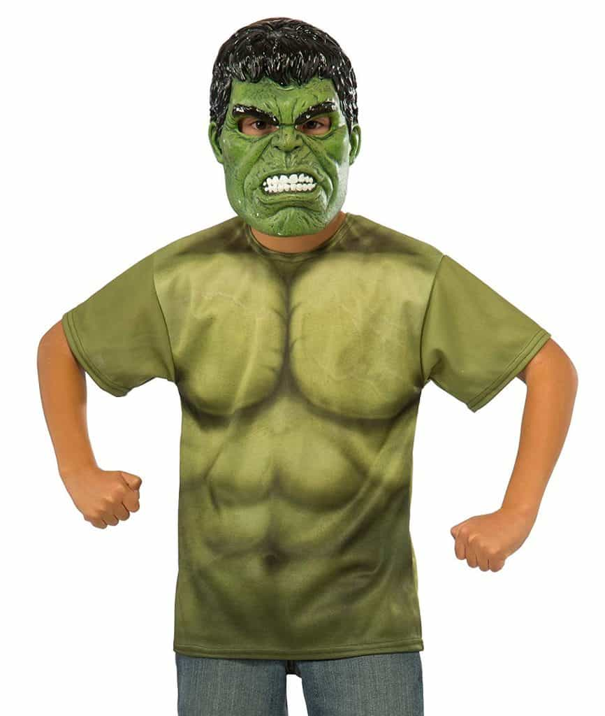 Youth Hulk costume for Halloween.