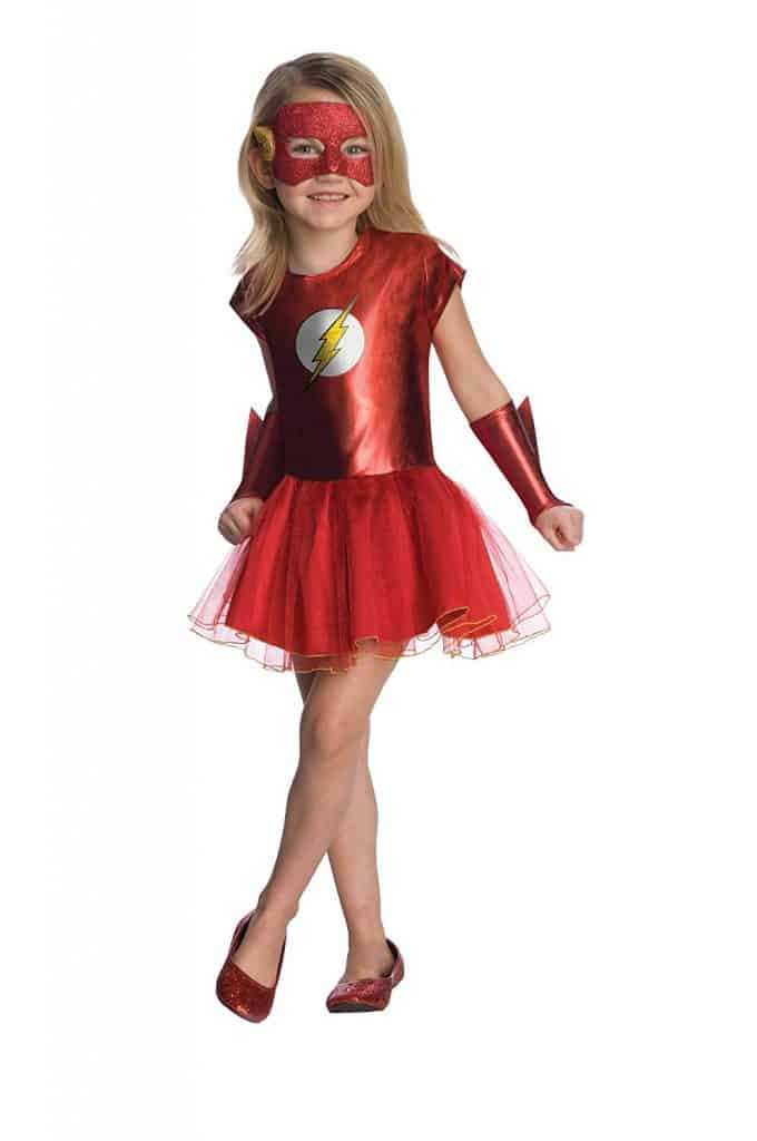 Justice League girls red tutu Flash Halloween dress costume.